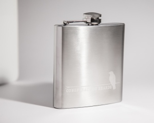 Conspiracy of Beards Flask