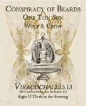 Viracocha w/One Ton Sun and Wolf & Crow @ Viracocha 2.15.13