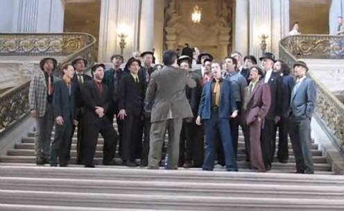 Throwback Thursday - Conspiracy of Beards singing on the steps of San Francisco City Hall